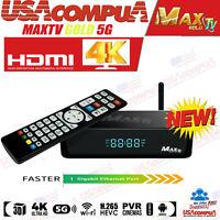 MAX TV GOLD MAXTV 5G 4K ULTRA-HD IPTV BOX+ANDROID 7.1 QUAD-CORE 64 BIT 2GB/ 8GB
