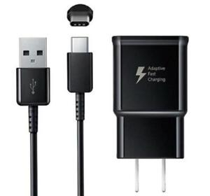 Fast Wall + Charger USB Type C Cable For Samsung Galaxy S20 S21 Note 20 Black