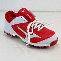 Mizuno 9 Spike Swift 4 Softball Womens Sz 5.5M Fast Pitch Metal Cleat Red White