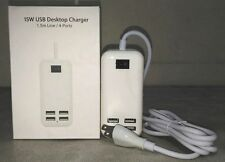 Brand New USB 15W Power Desktop Adapter Charger 4 Ports (122648)