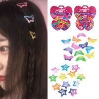 12Pcs/kit Kids Mini Barrettes Girls' BB Clip Pentagram Hair Clips Accessories
