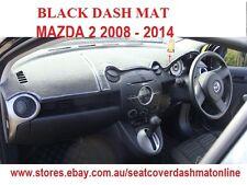 DASH MAT, DASHMAT MAZDA 2 2008 - 2014, BLACK, AIR BAG