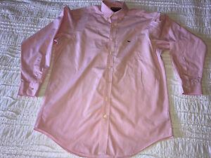 Vineyard Vines by Shep & Ian Button-Down Striped Pink/White Whale Shirt Size L