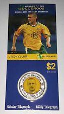 Socceroo Jason Culina 2006 Australian Medallion souvenir soccer coin Collectable