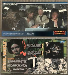 1994 Topps Star Wars WIDEVISION KENNER Promo card K-03 Millennium Falcon Cockpit