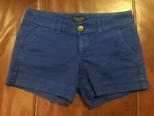 American Eagle Outfitters Ladies Dark Blue Shortie Shorts Stretch Sz 2 CP