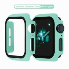 Full Cover Case Glass Screen Protector Film for Apple Watch SE 6 5 4 Accesories