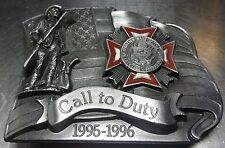 Vintage Collectable New Limited Edition #1233/5000 Call To Duty Belt Buckle