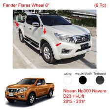 """Fender Flares Wheel 6"""" For Nissan Navara Frontier NP300 D23 UTE 4 Door 2016 17"""