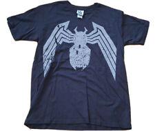 SPIDERMAN Men's Short Sleeve Soft Junk Food Crew Neck Shirt Sz Small black Slim