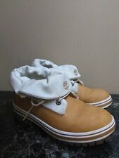 TIMBERLAND ROLL DOWN FOLD DOWN WHEAT BROWN BOOTS  MEN SZ 6