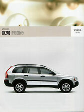 Volvo XC90 Specification 2005-06 UK Market Brochure S SE Executive