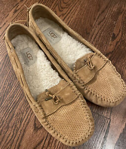 UGG Slippers Driving Moccasins Sherling Lining Fur Sherpa Shoes Perforated 10