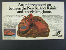 1983 New Balance Rainier Hiking Boots photo vintage print Ad