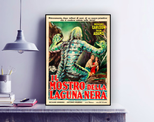 Vintage Movie 'Creature from the Black Lagoon' Italian Reproduction Poster Print
