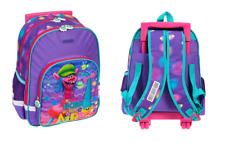 TROLLS TROLLEY School Bag Backpack on wheels licensed SALE wheeled bag NEW