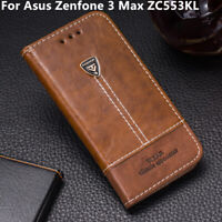 Luxury Phone Case Leather Flip Wallet Stand Cover For Asus Zenfone 3 Max ZC553KL