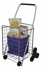 Deluxe Stair Climb Rolling Cart Collapsible Folding CONVENIENT Cart for Shopping