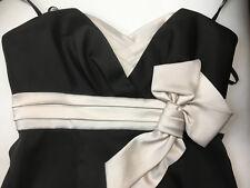 BCBG Maxazria Dress Cocktail Party Formal Size 4 Black Ivory Strapless