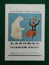 1964 LAPORTE TITANIUM OXIDE ADVERT; ASSOCIATED LEAD MANUFACTURERS LTD