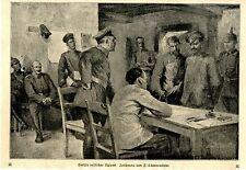 Interrogatorio russo spie disegno V. F. schwormstädt c.1917