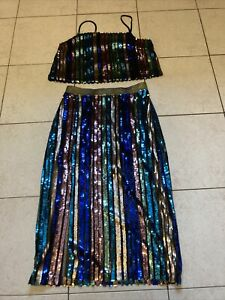 Size 10 Stunning Sequin Skirt & Top Outfit Ladies Clothes Bnwt Top Shop