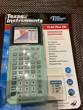 New ListingTexas Instruments Ti-84 Plus Ce Graphing Calculator - Mint Green