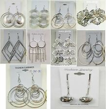 Su-9 Wholesale lot10 pairs Fashion Dangle Silver Plated Earrings Us-Seller