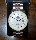 Orient 42mm White Dial Men's Automatic Watch Exhibition Case back