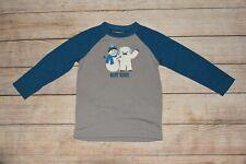 Nwt Boys Gymboree Xs 3 4 Best Buds Snowman Abominable Blue Gray Pajama Shirt