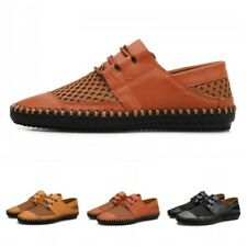 Mens Lace Up Pumps Walking Leisure Hollow Out Outdoor Round Toe Sandals Summer B