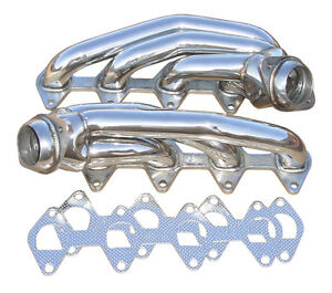 2005-2010 Ford Mustang GT 4.6 PYPES Polished Stainless Short Shorty Headers