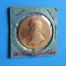 "President William McKinley Bronze Medal Coin - Rare 1.31"" Presidential U.S. Mint"