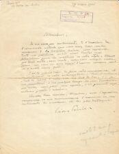 Léon POIRIER / Lettre autographe signée / Expédition Citroën /La Croisière Noire