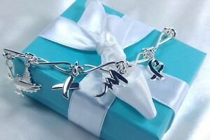NEW Tiffany & Co. Paloma Picasso Charm Bracelet 7.5 Inch MED Sterling Silver 925