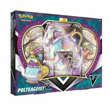 DAMAGED BOX Pokemon Polteageist V Box Collection Sword & Shield Packs TCG Cards