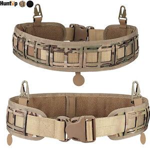 Tactical Molle Waist Battle Belt Military Soft Padded Combat CS Gear Load Belt