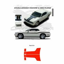 Dodge Challenger 2010 to 2011 Hood Stripes Graphic Kit - Red