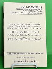 M1 Garand Rifle Maintenance Manual - New Old Stock