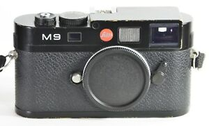 Leica M9, 18MP Digital body, Black. Works well, some brassing, low shot count