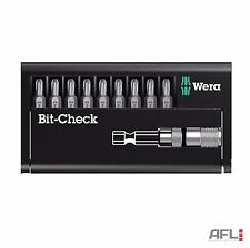 10 Piece Wera 136011 Bit-Check BC Drywall Construction Screwdriver Bit Set