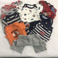 Carters Size NB Newborn Lot Baby Boy 3 Sleepers 4 Bodysuit 1 Pants Robots Space