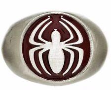 Marvel Comics Spiderman 8 Sized Brushed Nickel Ring W Enamel Details