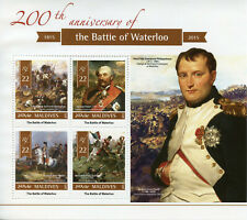 Maldives Military Stamps 2015 MNH Battle of Waterloo Napoleon People 4v M/S