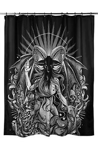 Killstar Satan is a Woman Baphomet Shower Curtain NEW Black Goth Decor Black
