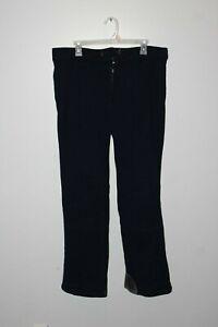 Obermeyer Mens Vintage Size 36L Lined Heavy Duty Stretch Ski Pants Navy Blue