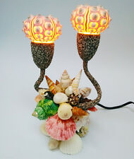 Table Lamp Night Light Shell Light Sea Shells blow fish handcraft Home Decor Wow