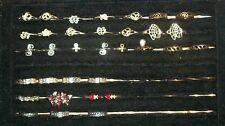 Toe Rings With Black Velvet Tray Lot of 33 Vintage Rings &