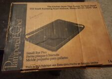 """New Pampered Chef Small Bar Pan Toaster Oven Cookie Sheet Stoneware 9x7"""""""