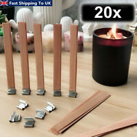 20x Wooden Candle Wicks Core Sustainer Set DIY Candle Making Supplies 8-15mm
